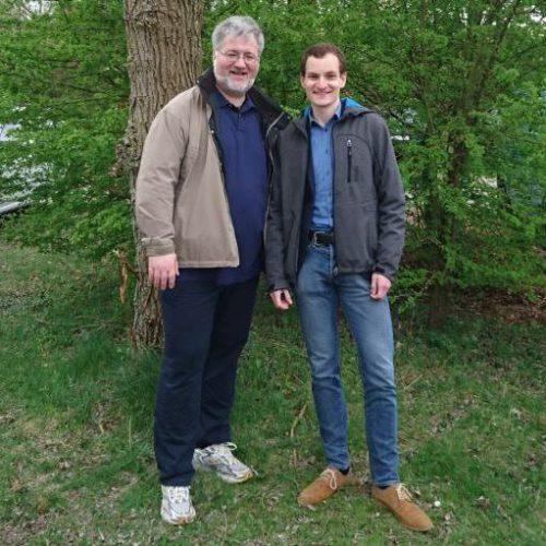 Stephan Albani zusammen mit seinem Hospitanten Daniel Pichl