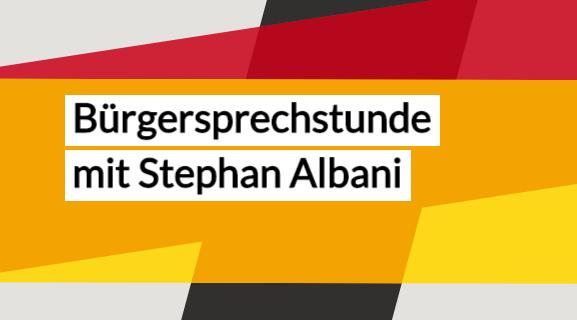 Bürgersprechstunde mit Stephan Albani