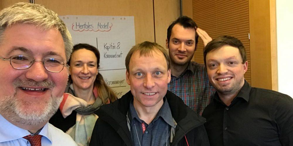 Selfie mit Heiner Bruns und Team