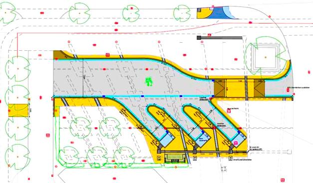 Plan Fernbushaltestelle OL. (C) Stadt OL